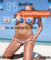 Sexy Girl 05 theme screenshot