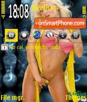 Скриншот темы Beautiful blonde