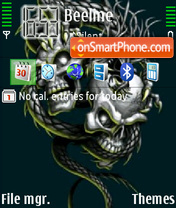 Skulls theme screenshot