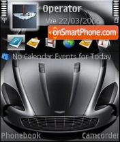 Aston Martin One 77 theme screenshot
