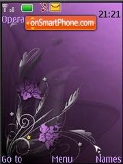 Abstract Violet theme screenshot