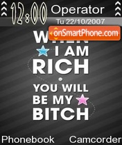When i m rich tema screenshot
