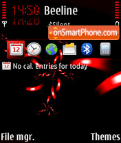 Red Black 01 theme screenshot
