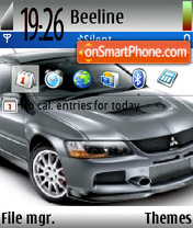 Lancer Evo9 theme screenshot
