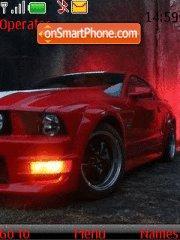 Скриншот темы Red Mustang 01