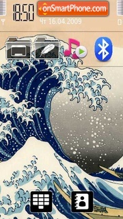 The Great Wave theme screenshot