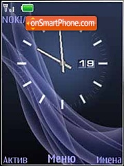 Blue Clock Abstract theme screenshot