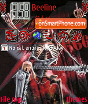 Death Metal theme screenshot