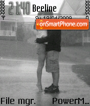 Kissing In Rain theme screenshot