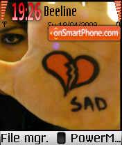 Broken Heart Sad theme screenshot