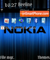 Nokia 5801 theme screenshot