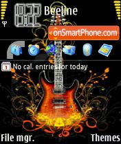 Guitar Skin theme screenshot