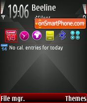 Скриншот темы Black Diamond