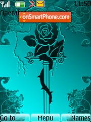 Скриншот темы Gothic Rose