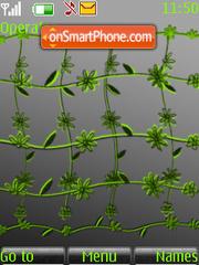 Green Flowers theme screenshot