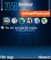 Nokia Blue 02 theme screenshot