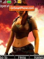 Lara Kroft theme screenshot