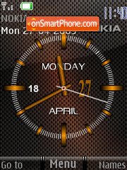 Carbon Clock theme screenshot