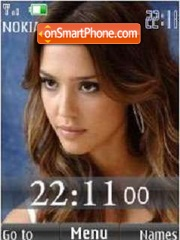 SWF Jessika Alba 24 Wallpaper theme screenshot