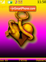 Unlock Your Heart theme screenshot