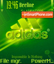 Green Adidas theme screenshot