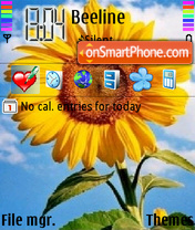 Sunflower tema screenshot