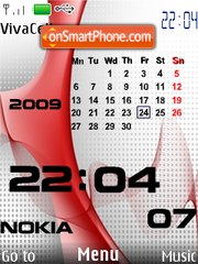 Nokia Red Calendar theme screenshot