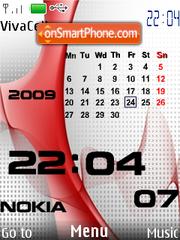 Nokia Red Calendar tema screenshot