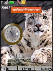 Swf clock irbis1 theme screenshot