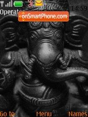 Ganesh Grey Orange theme screenshot