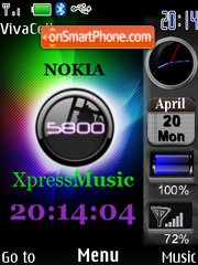 5800 XpressMusic theme screenshot