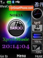 Скриншот темы 5800 XpressMusic