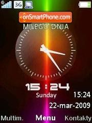 Xperia Clock SWF es el tema de pantalla