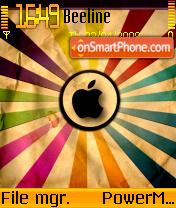 Apple Abstract es el tema de pantalla