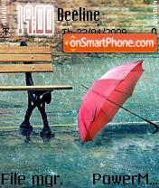 Raining es el tema de pantalla