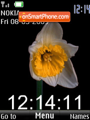 SWF narcissus clock animated theme screenshot