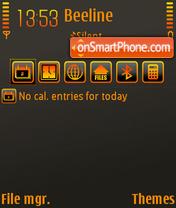 Скриншот темы Neon Orange