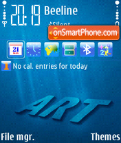 Скриншот темы Blueart FP1