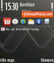 Xpress Music Grey tema screenshot