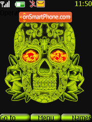 Green Skull theme screenshot