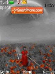 Poppies in gray theme screenshot