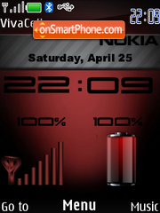 Red Dark Indicator theme screenshot