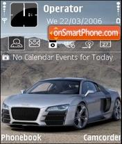 Audi R8 silver black es el tema de pantalla