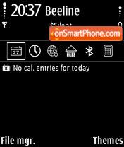 Black theme screenshot