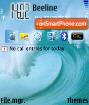 Wave theme screenshot