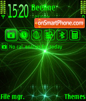 Greeneon theme screenshot