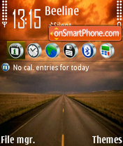 Road 67 theme screenshot
