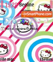 Скриншот темы Hello Kitty
