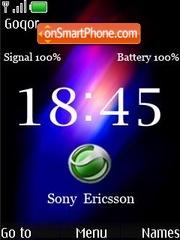 Скриншот темы Nokia Clock Sony Ericsson