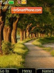 Скриншот темы Nature Road 01